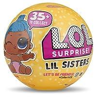 LOL Sorpresa! Lil Sisters Serie 3 Sfera con Mini Doll a Sorpresa. Scopri 5 livelli di sorpresa in ogni LOL Surprise! Sfera Lil Sisters! 35+ da collezionare nella serie 3! Una sfera fornita.