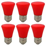 6er E27 Rot Glühlampen Lampe Farbig Birne Beleuchtung Glühbirne Bunt Dekoration Leuchtmittel Für Partybeleuchtung Biergartenbeleuchtung