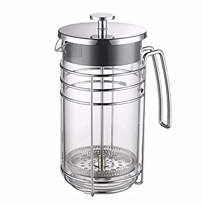 Cafetiere French Press Coffee Maker 600ml/21oz - Lsydnfow Coffee Press & Tea Makers with Heat Resistant Borosilicate Glass and 304 Grade Stainless Steel by Lsydnfow