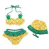 ARAUS Costume Da Bagno Da Bimba Nuotare Bikini Set Con Cappello da Nuoto