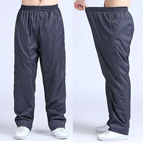 Zhhlaixing 3 Colors Mens Plus Size Loose Training Pants Fashion Sports Fitness Trousers Gray