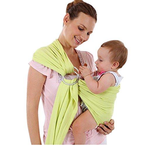 Babytragetuch, Frashing Baby Wrap Sling Stretchy Neugeborene Kleinkind Stilling Breathable Carrier (Grün) (Soft-carrier Grün)