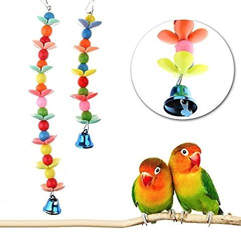 Dairyshop coloré pour animal domestique Oiseau Perroquet perruche Budgie Cage Bell à suspendre à mâcher Jouets NEUF