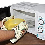 #10: Vmoni Microwave Oven Pot Holder Thermal Pad & Heat Proof Hand Gloves Kitchen Safety Utility For Baking BBQ (Random Design / Color)