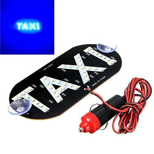 LNIMIKIY Top Selling Taxi Top Light New 45 LED Taxi Dachschild 12 V mit magnetischer Basis Taxi Dome Licht (grün) 14 cm x 7 cm blau - Dome Led-licht Weg