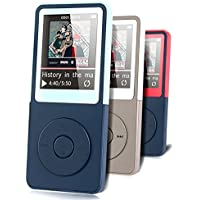 MP3 Player - HonTaseng Portable Music Player Lossless Sound 30 Hours Playback With FM Radio And Voice Recorder Expandable 32GB SD Card (Blue)
