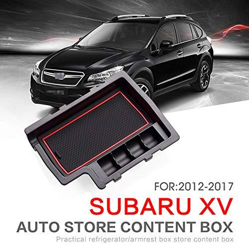 L&U Auto Front Central Armrest Empfangstablett Konsole Aufbewahrungsbox Geeignet für Subaru XV 12-17