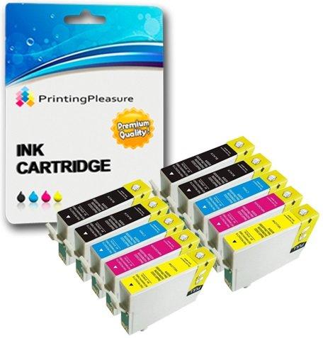 10 PREMIUM Druckerpatronen für Epson Stylus S22, SX125, SX130, SX235W,