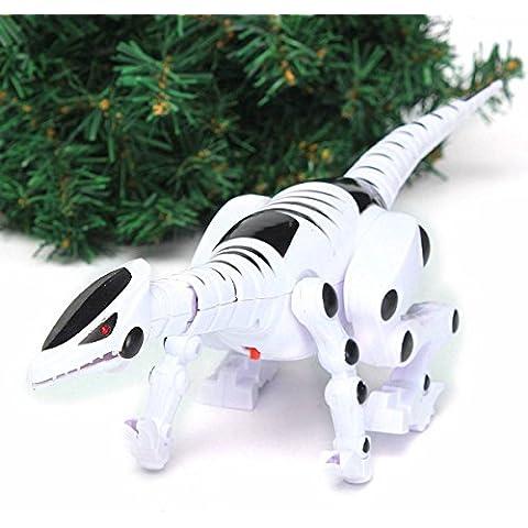 Creation® dinosaurio robot con Rugido Caminando rojo de luz de flash para Juguetes de los niños