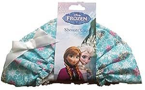 Disney Bonnet de douche Motif Elsa de La Reine des neiges Bleu