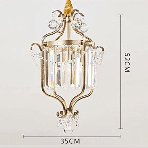 Gang Flur Garderobe Esszimmer Bar Treppe Eingang Halle einziges Haupt Kristallleuchter Hochwertige Kristall Lampe hängende Dual-use-Bügeleisen Persönlichkeit E27 (Farbe: Gold, Größe: 35 * 52 cm)