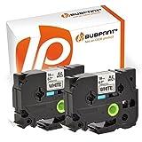 Bubprint 2 Schriftbänder kompatibel für brother TZE-241 TZE 241 für P-Touch 1000 1750 1800 1850 1950 210E 220 2400 2430pc 2450dx 2460 2470 2480 18mm