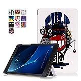 Galaxy Tab A 580 Tasche,Flip Case Cover PU Leder Skin Tasche mit Standfunktion Schutzhülle für Samsung Galaxy Tab A (2016) SM-T580N/T585N 25,54 cm (10,1 Zoll) Leder Hülle Ultra Slim LederSkin Schale (#2 Monster)