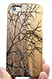 RoseFlower Coque en Bois Naturel pour iPhone Se / 5S / 5 (Ecran: 4,0 Pouces) - Arbre...