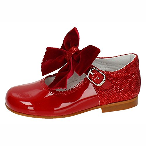 BAMBINELLI ,  Mädchen Mary Jane Halbschuhe , rot - rot - Größe: 25 (Rote Janes Kinder Mary)