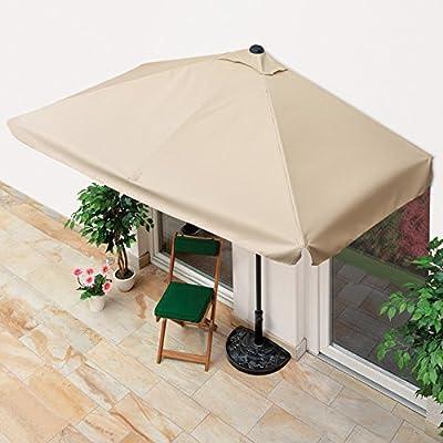 Terrazas y balcón sombrilla (Media pantalla para Transición sin a la pared, rectangular, 40+, protección UV, 230x 140cm)