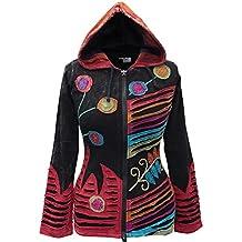 Shopoholic Grunge Emo gótico de Hippie para mujer, diseño de chaqueta con capucha de algodón, diseño retro