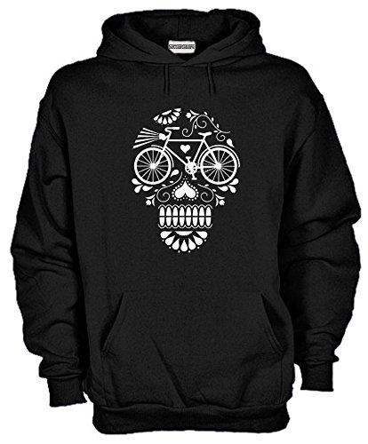 Settantallora - Felpa Con Cappuccio KJ958 Skull Bike Element Taglia M