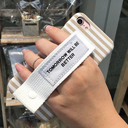 Rasterfeld-Segeltuch-schützender rückseitiger Abdeckungs-Fall mit morgen ist besseres weißes Wristband für iPhone 6 u. 6s by diebelleu ( SKU : Ip6g1078c ) Ip6g1078d