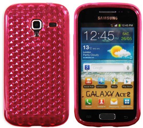 Luxburg Diamond Design custodia Cover per Samsung Galaxy Ace 2 GT-I8160 colore rosa quarzo, custodia in silicone TPU