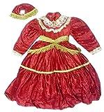 Costume de carnaval en rouge 800de chenille et satiné satiné, taille avec bandeau Interne. 3e pour une fille 3–4ans (vérifier les dimensions en cm)–Hllw