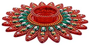 Aayam Design and Solutions acrylic Decorative t-light candle holder plate(15 cm x 15 cm x 2 cm)