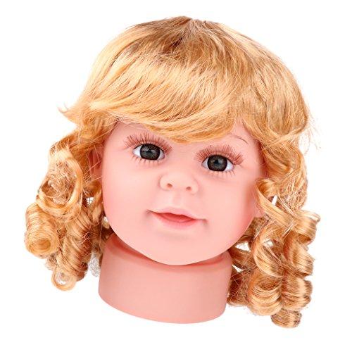 MagiDeal Trainingsmodell Mannequin Kopfmodell kind kleines Mädchen Schaufensterpuppe Mannequinkopf zum Perücke Schmuck Sonnenbrille Display Größe - S -