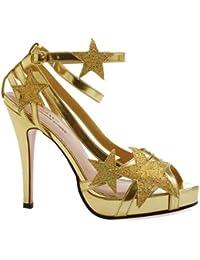 Leg Avenue - Chaussures Talons Starlight - Or - 38 - LA427-STARLIGHT
