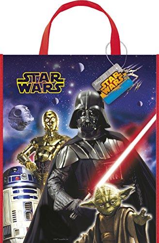 Unique Party Grand Sac de fête de Star Wars Classique, 33 cm x 28 cm