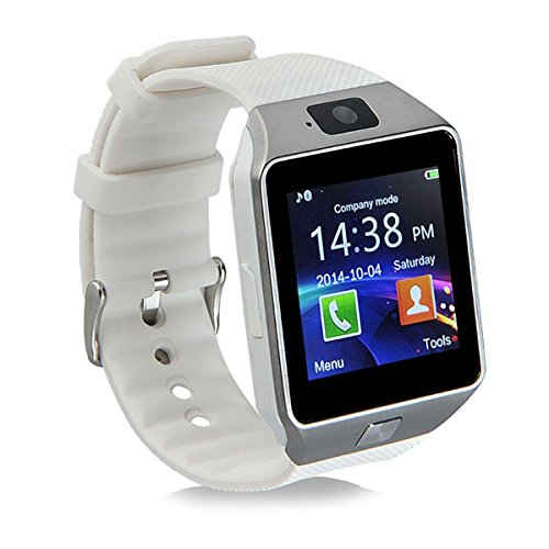 HealthMax HT DZ09 White Smartwatch Compatible With Micromax Canvas Play 4G Mobiles