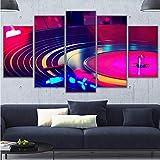 Pmhhc Wandkunst Rahmen Leinwand Hd Drucke Malerei 5 Stücke Dj Musikinstrument Plattenspieler Poster Wohnkultur Dj Drehen Tisch Bilder-20X35Cmx2 20X45Cmx2 20X55Cm
