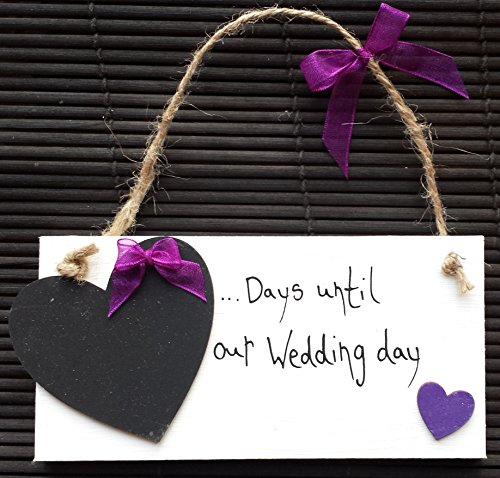 fatto-a-mano-con-scritta-our-wedding-day-viola-cuore-countdown-sign