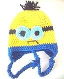 Minions Winter Strickmütze Beanie Mütze (Blau-Gelb)