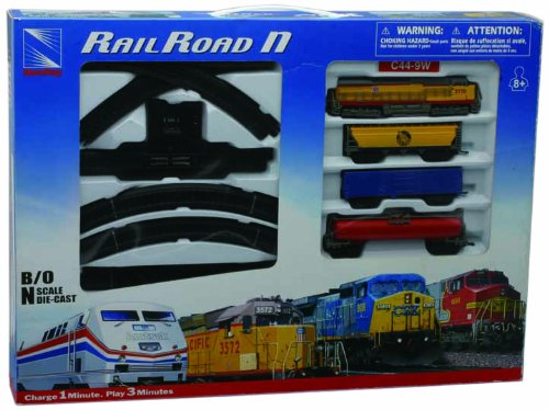 New-Ray S.R.L Treno Set Union Pacific B/O 08303, Multicolore, 846086