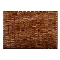 casa pura Bamboo Bath Mat,  Chestnut Brown, Honey Gold - 60 x 90 cm (2ft x 3ft) | Bathroom & Sauna Mat
