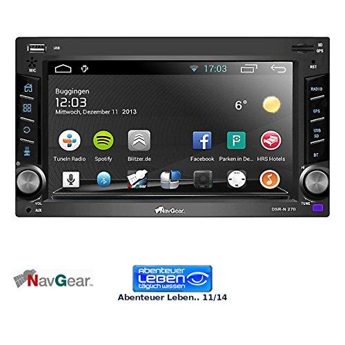 NavGear 2-DIN Android-Autoradio DSR-N 270 mit GPS, WiFi, BT2