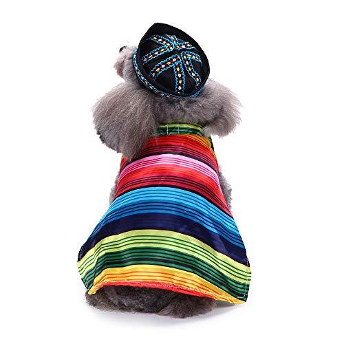Dragon868 Pet Kleidung Mode Halloween Polyester KostüM Mexikanischer Mantel ()