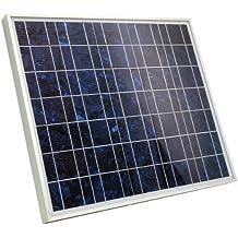 Ecosource 230100 - Panel solar (células fotovoltaicas policristalinas, 30 Wp, 465 x 545 mm, XL, cable de conexión de 2,5 m)