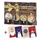 itenga AktionsSet8 1x Roth gefüllter Adventskalender Coffee & Co + 4 Weihnachtskarten Klappkarten