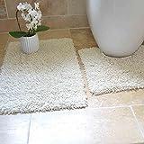 Tony's Textiles Badgarnitur im Schlingen-Design - weiche Badematten aus 100% Schwerer Baumwolle - 2-teilig - Creme