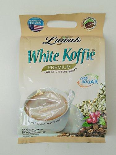Luwak Brand White Koffie Premium - Café Instantané Moins de Sucre 20-ct, 400 Grammes