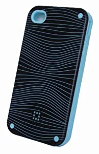 New Groovy iPhone 4 / 4S wave design silicone case (Light Blue)