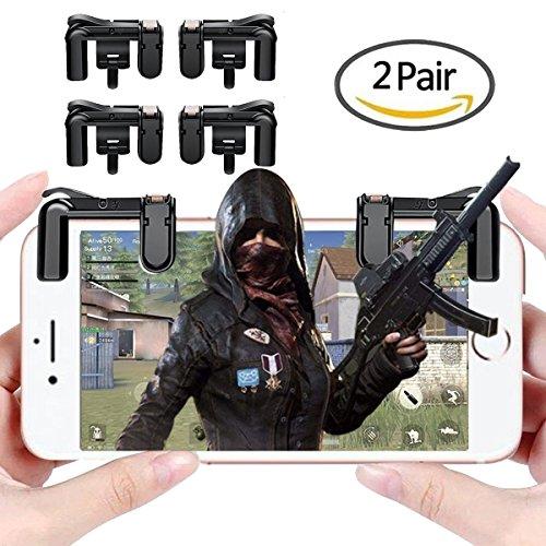 Mobile Game Controller, traderplus 2Paar Sensitive Shoot und Ziel Löst Tasten für pubg, Messer Out, Rules of Survival (Links und Rechts) Mobile Game Joystick Gamepad für Android iPhone - Ps4 Sie Einfach Bewegen Die