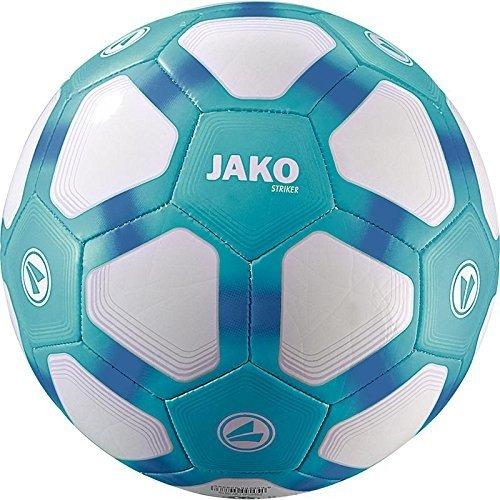 JAKO Herren Lightball Striker, weiß/Aqua blau-350g, 4 -