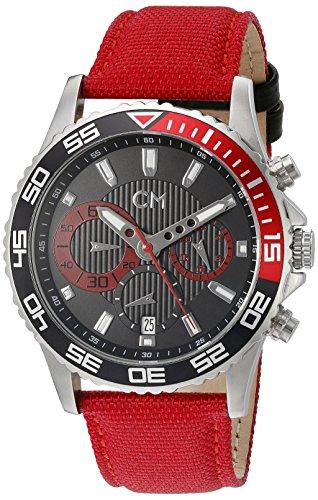 Carlo Monti - CM509-124B - Montre Homme - Quartz Chronographe - Chronomètre - Bracelet Textile Rouge