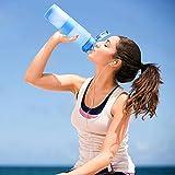 HoneyHolly Sport Trinkflasche – 35oz / 1000ml – BPA frei dicht und umweltfreundlich – Für Gym, Laufen, Yoga, Camping, Outdoor, Männer, Frauen & Kinder – One Handed Open & Tritan Trinkflaschen aus Kunststoff mit Filter ( 1 Liter, Matte Smaragd) - 5
