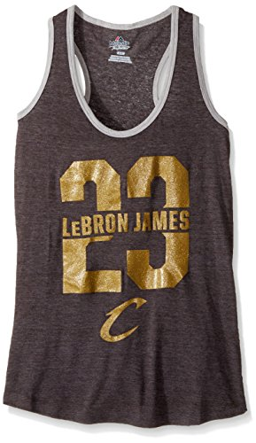 VF VSG bringen Best Player Programm NBA Damen Ärmellos Scoop Neck Racer Back Tank, Medium, Charcoal heather-stlheather - Scoop Back Tank