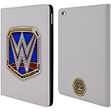 Official WWE Smackdown Women's Champion Title Belts Leather Book Wallet Case Cover For Apple iPad Air 2