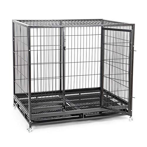 Hochleistungshundekiste Strong Metal Pet Kennel Laufstall, Großer Hundekäfig Mit Rädern, Strong Metal Crate Kennel