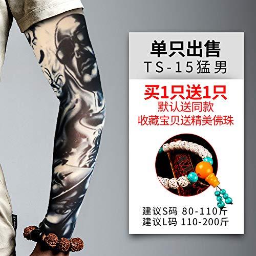 JinRui-Sport Tattoo Sleeve ICY Sleeves Herren Flut Tattoo Ärmel, L, Ts15 Macho 2 - Einfach Macho Mann Kostüm